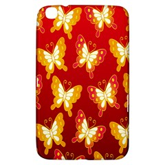 Butterfly Gold Red Yellow Animals Fly Samsung Galaxy Tab 3 (8 ) T3100 Hardshell Case