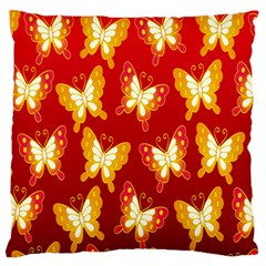 Butterfly Gold Red Yellow Animals Fly Standard Flano Cushion Case (One Side)