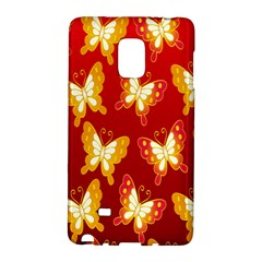Butterfly Gold Red Yellow Animals Fly Galaxy Note Edge