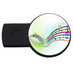 Color Musical Note Waves Usb Flash Drive Round (2 Gb)