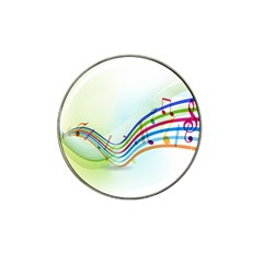 Color Musical Note Waves Hat Clip Ball Marker (4 Pack)