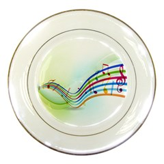 Color Musical Note Waves Porcelain Plates