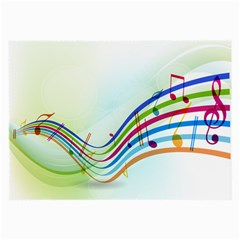 Color Musical Note Waves Large Glasses Cloth (2-Side)
