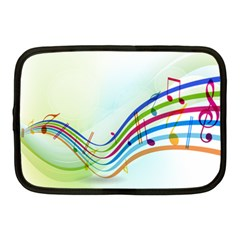 Color Musical Note Waves Netbook Case (Medium)
