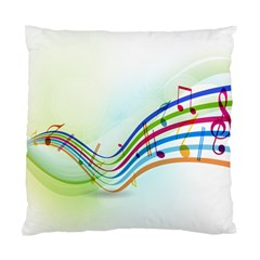Color Musical Note Waves Standard Cushion Case (One Side)