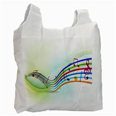 Color Musical Note Waves Recycle Bag (One Side)