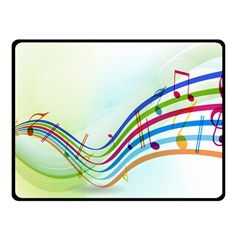 Color Musical Note Waves Fleece Blanket (Small)