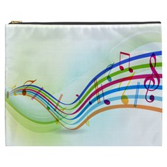 Color Musical Note Waves Cosmetic Bag (XXXL)