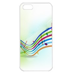 Color Musical Note Waves Apple iPhone 5 Seamless Case (White)