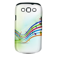 Color Musical Note Waves Samsung Galaxy S III Classic Hardshell Case (PC+Silicone)