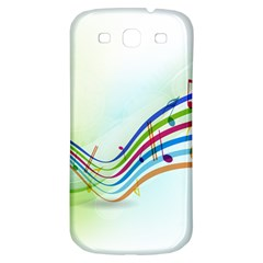 Color Musical Note Waves Samsung Galaxy S3 S III Classic Hardshell Back Case