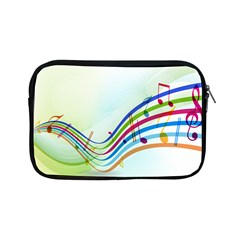 Color Musical Note Waves Apple Ipad Mini Zipper Cases
