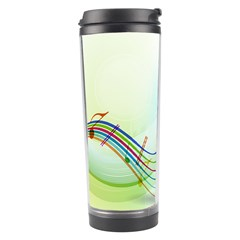 Color Musical Note Waves Travel Tumbler