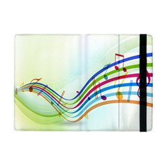 Color Musical Note Waves iPad Mini 2 Flip Cases