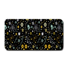 Floral And Butterfly Black Spring Medium Bar Mats