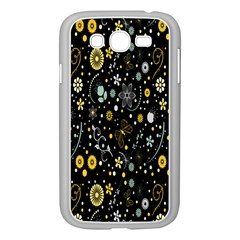 Floral And Butterfly Black Spring Samsung Galaxy Grand DUOS I9082 Case (White)
