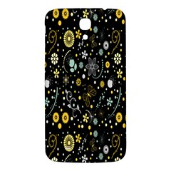 Floral And Butterfly Black Spring Samsung Galaxy Mega I9200 Hardshell Back Case