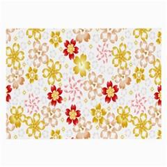Flower Arrangements Season Rose Gold Large Glasses Cloth (2-Side)