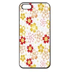 Flower Arrangements Season Rose Gold Apple iPhone 5 Seamless Case (Black)