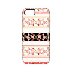 Flower Arrangements Season Floral Rose Pink Black Apple iPhone 5 Classic Hardshell Case (PC+Silicone)