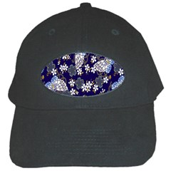 Butterfly Iron Chains Blue Purple Animals White Fly Floral Flower Black Cap