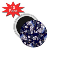 Butterfly Iron Chains Blue Purple Animals White Fly Floral Flower 1.75  Magnets (10 pack)