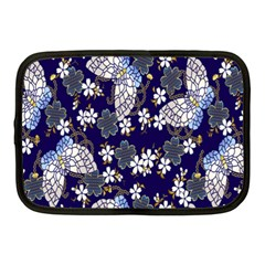 Butterfly Iron Chains Blue Purple Animals White Fly Floral Flower Netbook Case (medium)