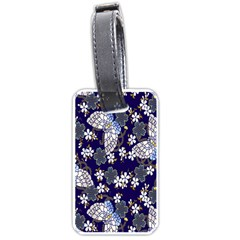 Butterfly Iron Chains Blue Purple Animals White Fly Floral Flower Luggage Tags (Two Sides)