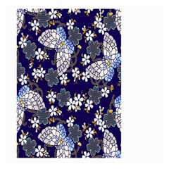 Butterfly Iron Chains Blue Purple Animals White Fly Floral Flower Large Garden Flag (Two Sides)