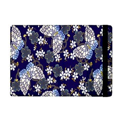 Butterfly Iron Chains Blue Purple Animals White Fly Floral Flower Apple Ipad Mini Flip Case