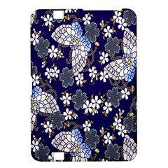 Butterfly Iron Chains Blue Purple Animals White Fly Floral Flower Kindle Fire HD 8.9