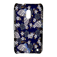 Butterfly Iron Chains Blue Purple Animals White Fly Floral Flower Nokia Lumia 620