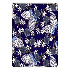 Butterfly Iron Chains Blue Purple Animals White Fly Floral Flower iPad Air Hardshell Cases