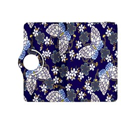 Butterfly Iron Chains Blue Purple Animals White Fly Floral Flower Kindle Fire Hdx 8 9  Flip 360 Case