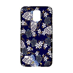 Butterfly Iron Chains Blue Purple Animals White Fly Floral Flower Samsung Galaxy S5 Hardshell Case