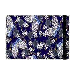 Butterfly Iron Chains Blue Purple Animals White Fly Floral Flower iPad Mini 2 Flip Cases
