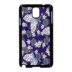 Butterfly Iron Chains Blue Purple Animals White Fly Floral Flower Samsung Galaxy Note 3 Neo Hardshell Case (black)