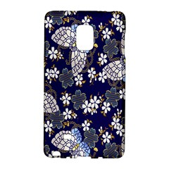Butterfly Iron Chains Blue Purple Animals White Fly Floral Flower Galaxy Note Edge
