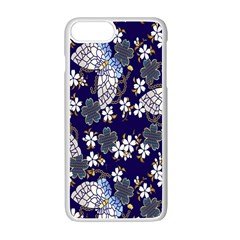 Butterfly Iron Chains Blue Purple Animals White Fly Floral Flower Apple Iphone 7 Plus White Seamless Case