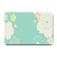Flower Blue Pink Yellow Small Doormat