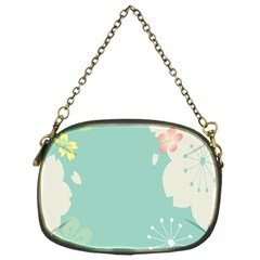 Flower Blue Pink Yellow Chain Purses (One Side)