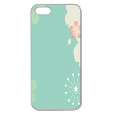Flower Blue Pink Yellow Apple Seamless iPhone 5 Case (Clear)