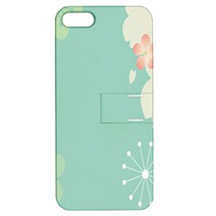 Flower Blue Pink Yellow Apple iPhone 5 Hardshell Case with Stand