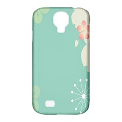 Flower Blue Pink Yellow Samsung Galaxy S4 Classic Hardshell Case (PC+Silicone)