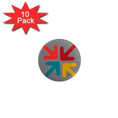 Arrows Center Inside Middle 1  Mini Magnet (10 Pack)