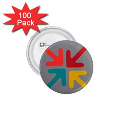 Arrows Center Inside Middle 1 75  Buttons (100 Pack)