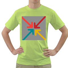 Arrows Center Inside Middle Green T Shirt