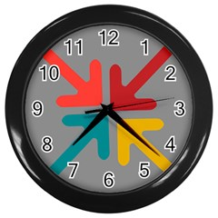 Arrows Center Inside Middle Wall Clocks (black)