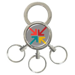 Arrows Center Inside Middle 3 Ring Key Chains