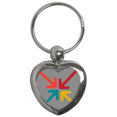 Arrows Center Inside Middle Key Chains (Heart)